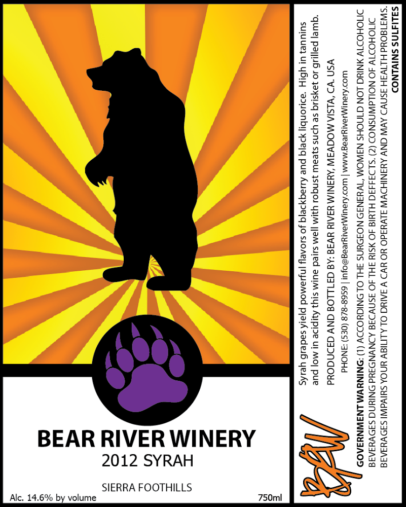 2012 Bear River Syrah